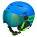 Etape RIDER PRO blue - Children's ski helmet with a visor