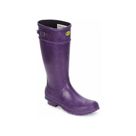 Superga 745 RBRU WELLIES women's Wellington Boots in Purple
