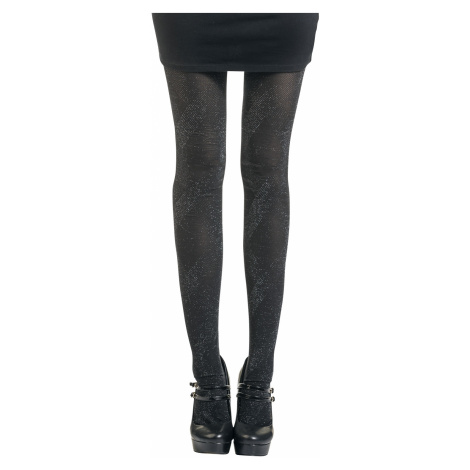 Disée - Shiny Rhomb - Tights - black-silver