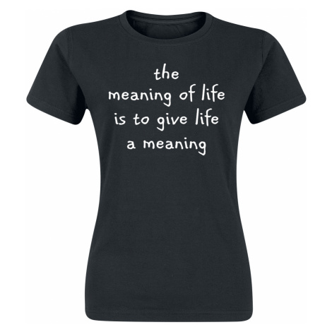 The Meaning Of Life - - Girls shirt - black