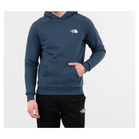 The North Face Raglan Red Box Hoodie Blue Wing