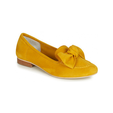 Yellow women's loafers