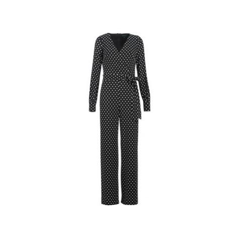 Lauren Ralph Lauren POLKA DOT WIDE LEG JUMPSUIT women's Jumpsuit in Black