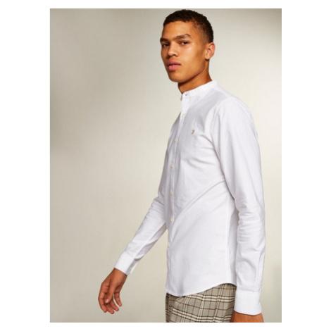 Mens Farah White 'Brewer' Grandad Shirt*, White