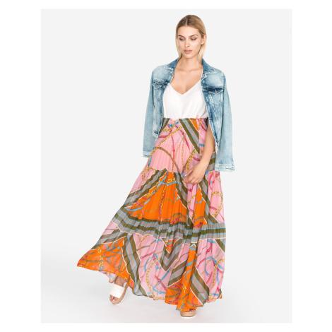 Pinko Constance 1 Skirt Pink Orange