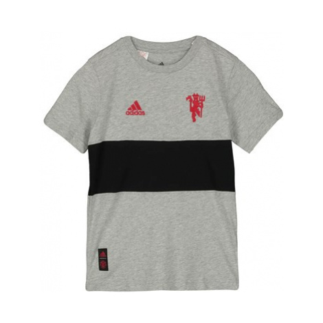 Manchester United Graphic Tee - Grey - Kids Adidas