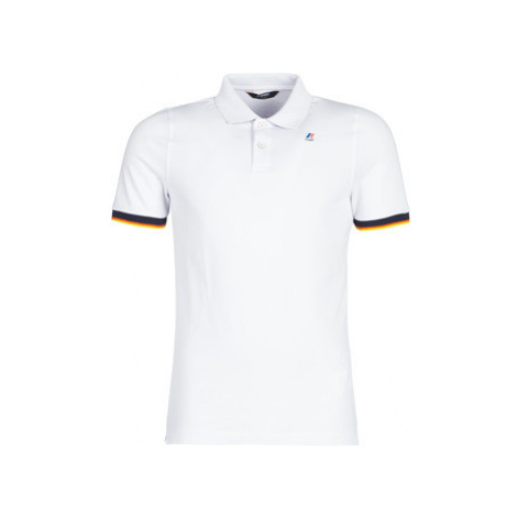 K-Way VINCENT CONTRAST men's Polo shirt in White
