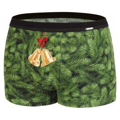 shorts Cornette Merry Christmas Bells - Green - men´s