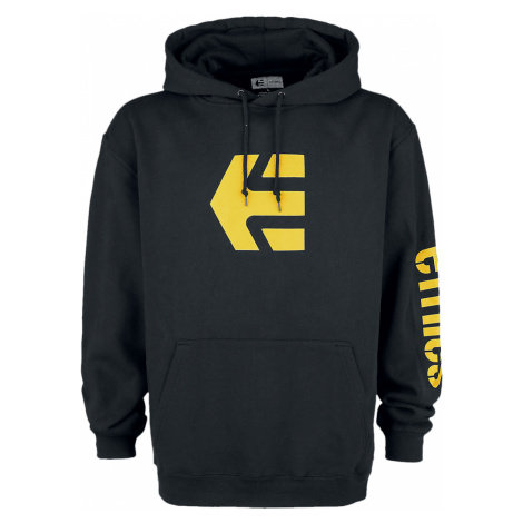 Etnies - Icon Hoodie - Hooded sweatshirt - black-yellow