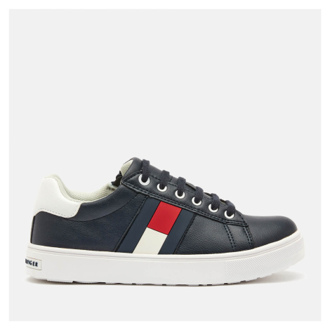 Tommy Hilfiger Kids' Low Cut Lace Up Sneakers - Blue/White