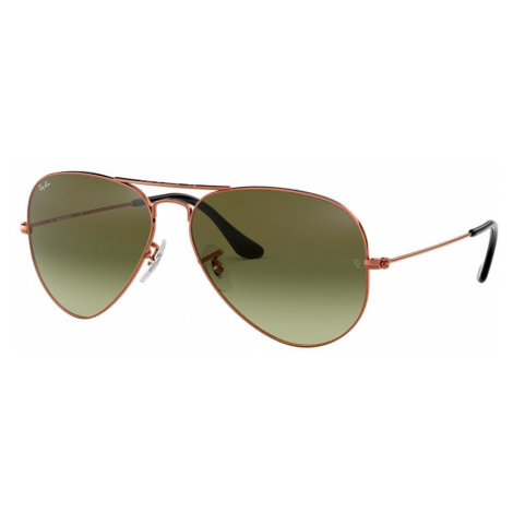 Ray Ban Man RB3025 AVIATOR GRADIENT - Frame color: Bronze-Copper, Lens color: Green, Size 58-14/