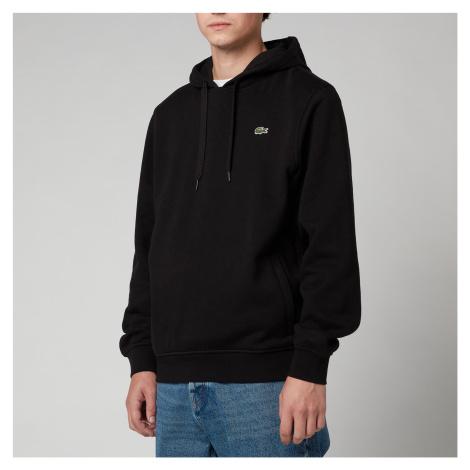 Lacoste Men's Sport Hooded Fleece Sweatshirt - Black - 6/XL