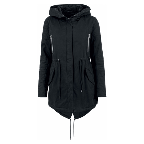 Urban Classics - Ladies Sherpa Lined Cotton Parka - Girls winter jacket - black