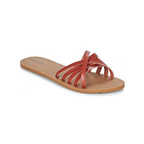 Volcom SUNDAZE women's Mules / Casual Shoes in Red