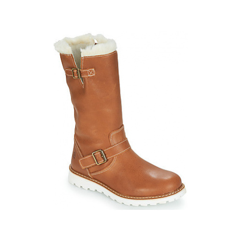 Citrouille et Compagnie HUSETTE girls's Children's High Boots in Brown