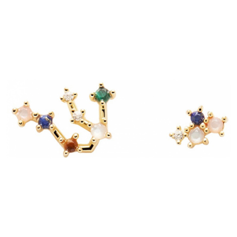 P D PAOLA Gold Plated Aquarius Constellation Earrings