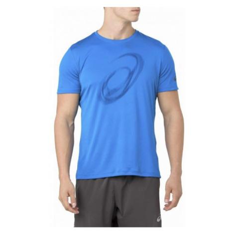Asics SILVER SS TOP GRAPHIC blue - Men's running T-shirt