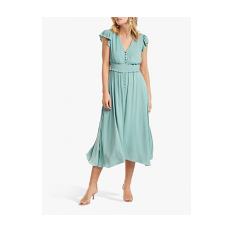 Forever New Amayah Button Front Midi Dress, Jade