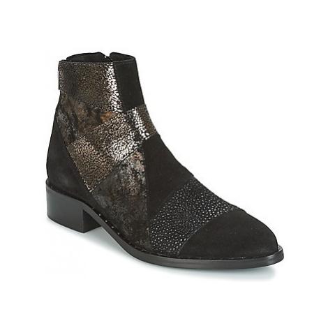 Philippe Morvan SILKO V1 CR VEL NOIR women's Mid Boots in Black