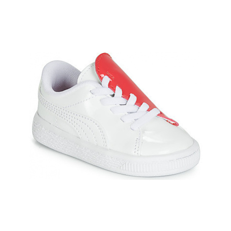 Puma INF B CRUSH PATENT AC.W-H girls's Children's Shoes (Trainers) in White