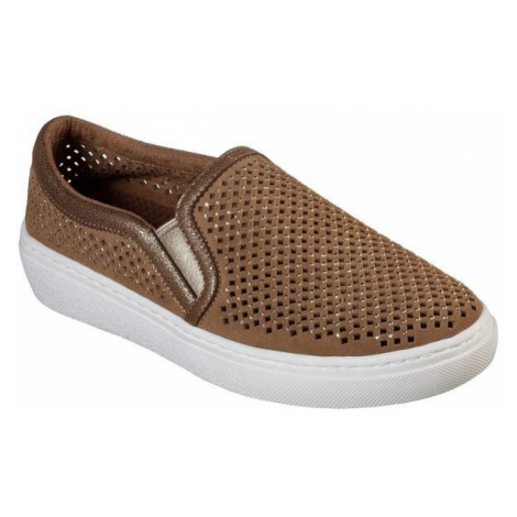 Skechers GOLDIE brown - Women's slip-on sneakers