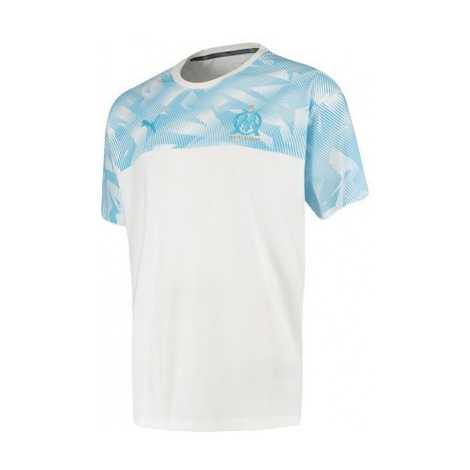 Olympique de Marseille Casuals T-Shirt - White Puma