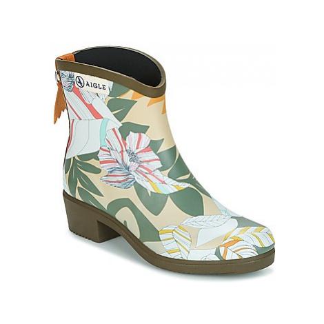 Aigle MISS JULIETTE BOTTILLON PRINT women's Wellington Boots in Kaki