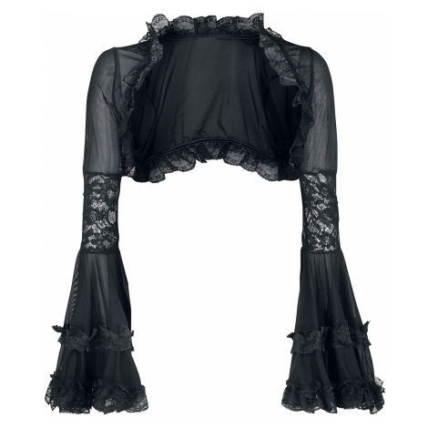 Ocultica - Gothic Bolero with Lace - Bolero - black