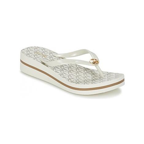 MICHAEL Michael Kors BEDFORD FIPFLOP STRIPE women's Flip flops / Sandals (Shoes) in Beige