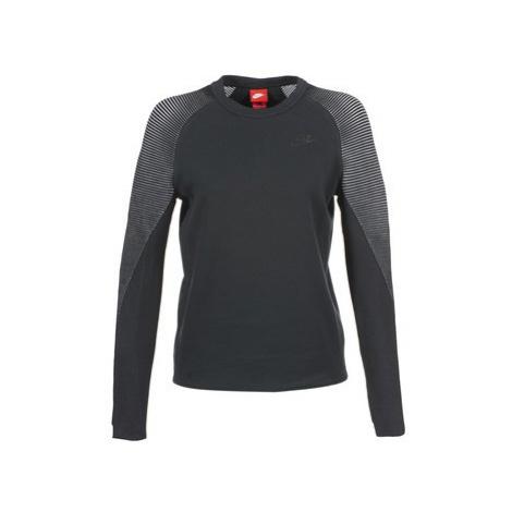 Nike TECH FLEECE CREW women's Sweatshirt in Black