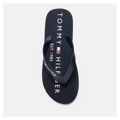 Tommy Hilfiger Men's Hilfiger Print Beach Flip Flops - Desert Sky - UK