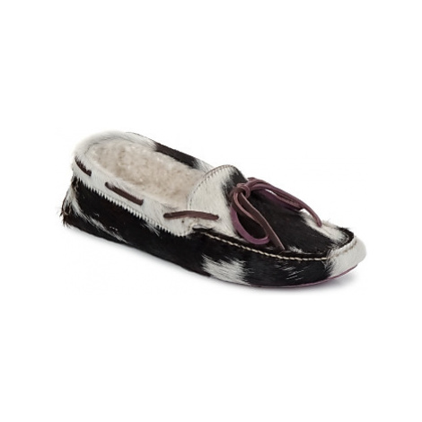Swamp PANTOFOLA CON MONTONE CAVALLIN women's Loafers / Casual Shoes in Black