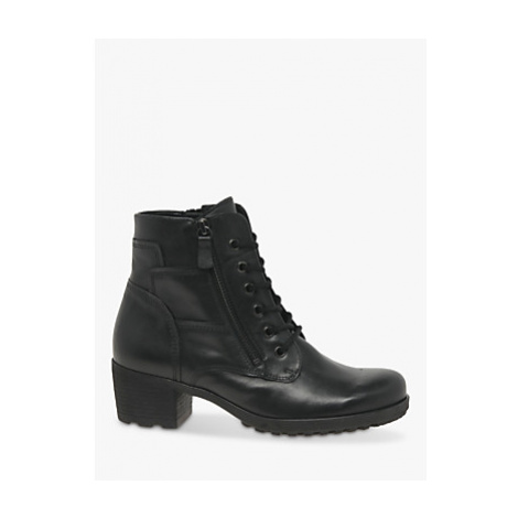 Gabor Ottavia Leather Lace Up Ankle Boots, Black