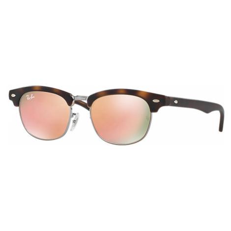 Ray-Ban Clubmaster junior Unisex Sunglasses Lenses: Pink, Frame: Tortoise - RJ9050S 70182Y 47-16