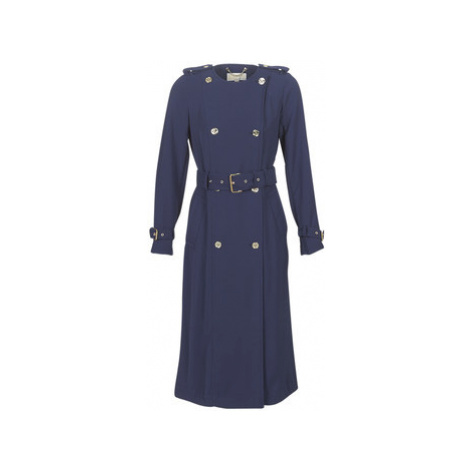 MICHAEL Michael Kors COLLARLESS TRENCH women's Trench Coat in Blue