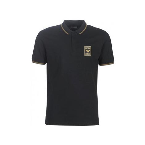 Emporio Armani 6G1FG0-1J46Z-1001 men's Polo shirt in Black