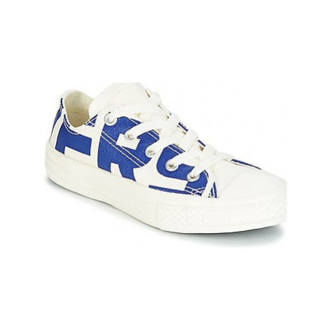 White girls' canvas trainers