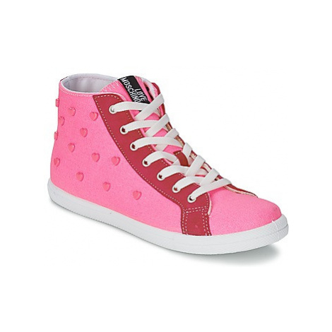 Love Moschino JA15102G0KJC0604 women's Shoes (High-top Trainers) in Pink
