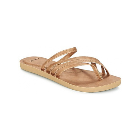 Rip Curl LIZZY women's Flip flops / Sandals (Shoes) in Gold