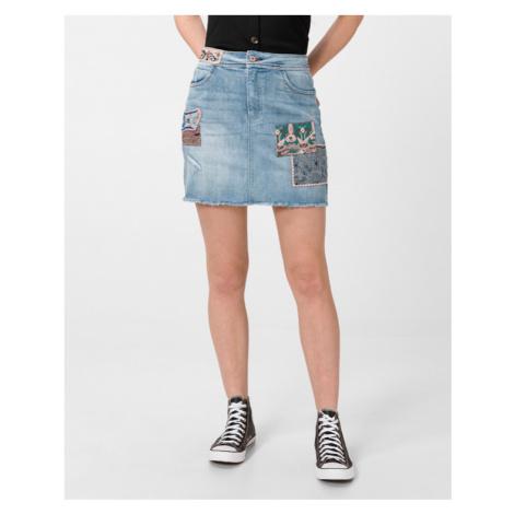Desigual Boho Skirt Blue