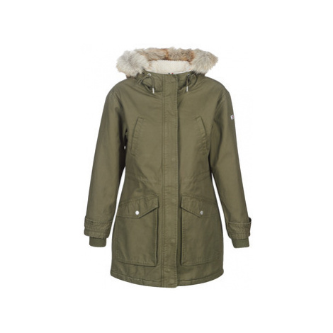 Tommy Jeans TJW ESSENTIAL LINED COTTON PARKA women's Parka in Green Tommy Hilfiger