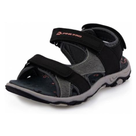 ALPINE PRO POPPIO black - Children's summer shoes