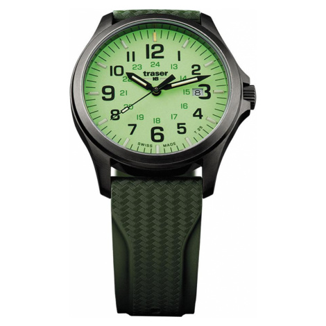 Traser H3 Watch Active Lifestyle P67 Officer Pro GunMetal Lime