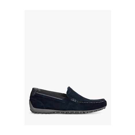 Geox Uomo Snake Moccasino Suede Moccasins, Navy