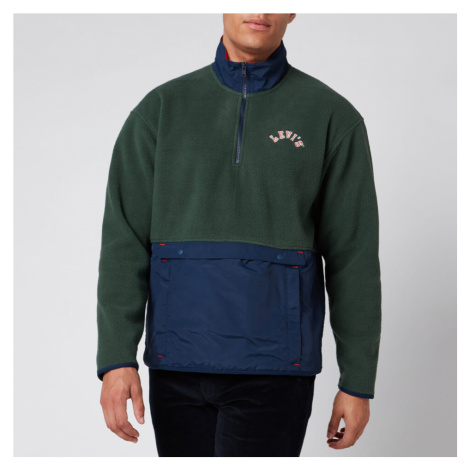 Levi's Men's Quarter Zip Polar Fleece - Python Green Levi´s