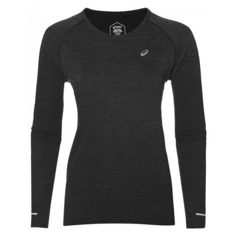 Asics SEAMLESS LS TEXTURE black - Women's sports T-shirt