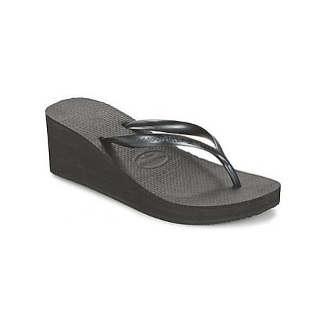 Havaianas HIGH FASHION women's Flip flops / Sandals (Shoes) in Black