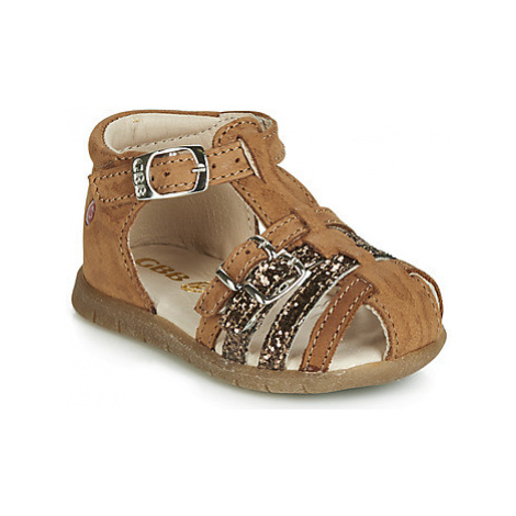 GBB PERLE girls's Children's Sandals in Brown