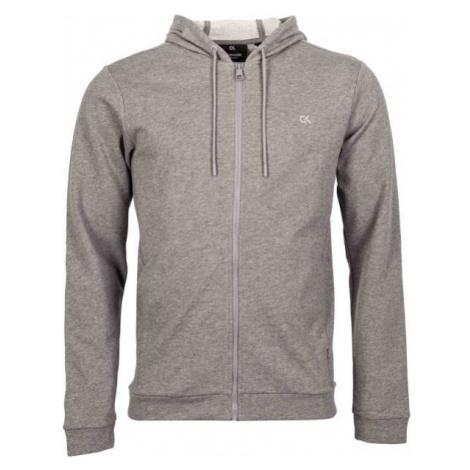 Calvin Klein BILLBOARD FZ HOODIE grey - Men's sweatshirt