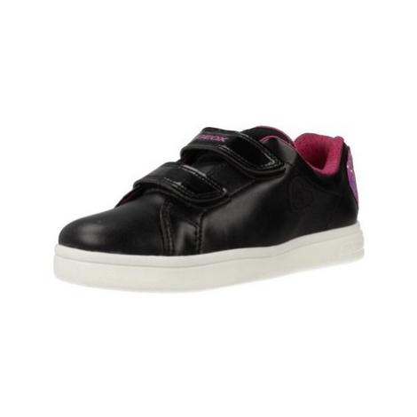 Geox J DJROCK GIRL girls's Children's Shoes (Trainers) in Black